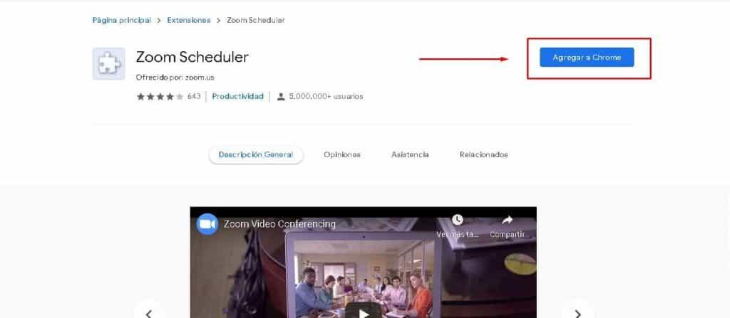 Descargar Zoom gratis en español en Chrome