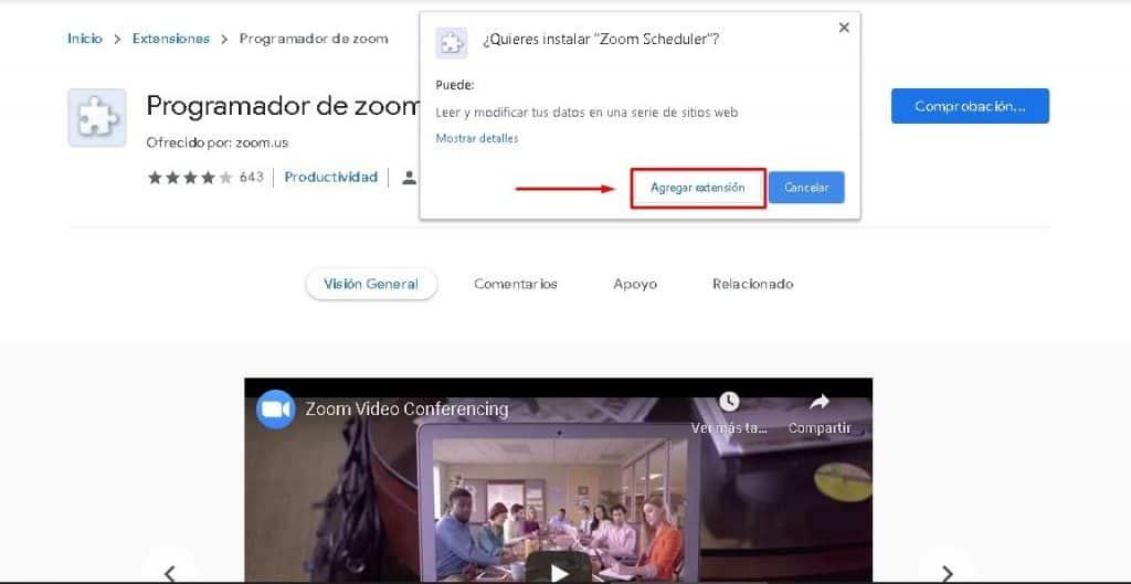 Descargar e instalar Zoom gratis en español en Chrome