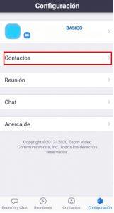 Contactos de Zoom para Android