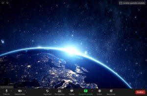 Interfaz reunión Zoom para Mac