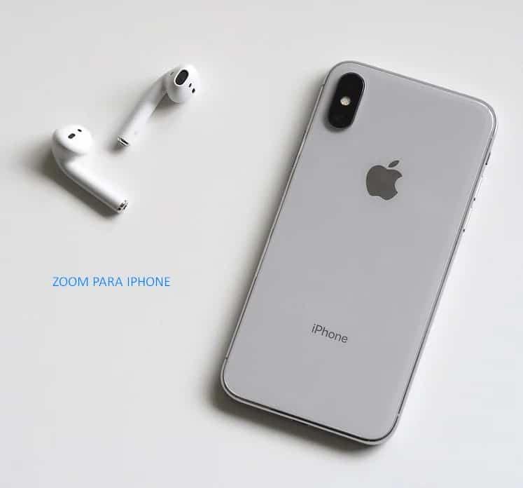 Zoom app para iPhone