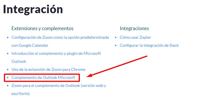 Zoom para Outlook